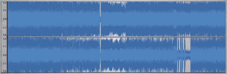 Articolo Loudness war_waveform con scarsa dinamica e altissimo livello di compressione:loudness