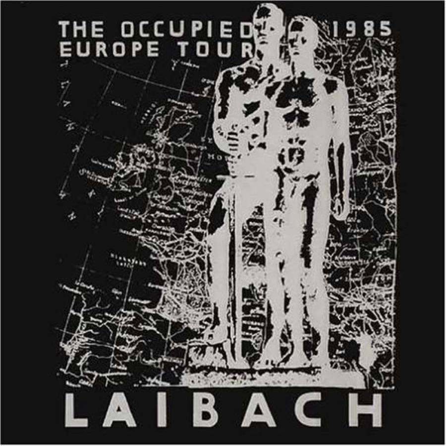 """Cover del disco live dei Laibach """"Occupied Europe Tours"""" realizzato nel 1985"""