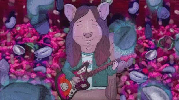 Kurt vile si trasforma in scoiattolo nel cartone animato