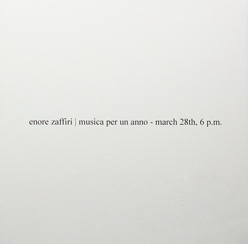 Musica Per Un Anno. March 28th, 6 p.m.