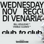 Bill Kouligas, Visible Cloaks, Club To Club 2017, Reggia Venaria
